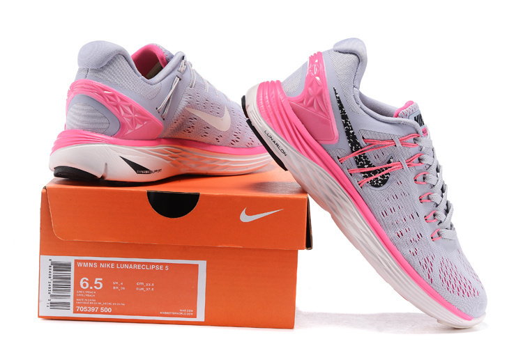 Best Drop Shipping Nike Lunarclipse 5 Womens running shoes Gray pink[705397-500]