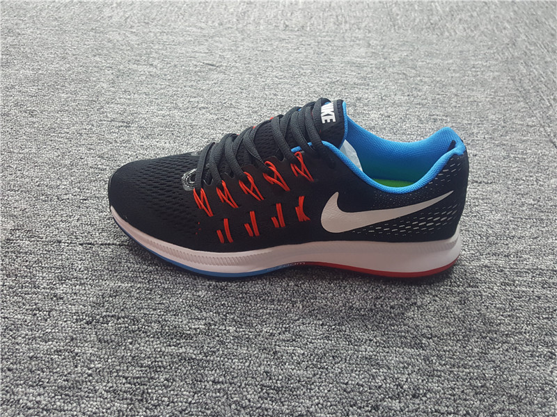 Advanced Design Nike Air Zoom Pegasus 33 Black Red Blue Men's Sport Running  Shoes