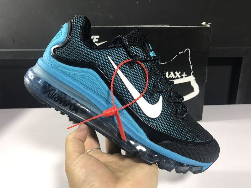 buy online efe79 d2eda ... Nike Air Max 2018 Elite Black Blue White Men's Sport Running Shoes ...