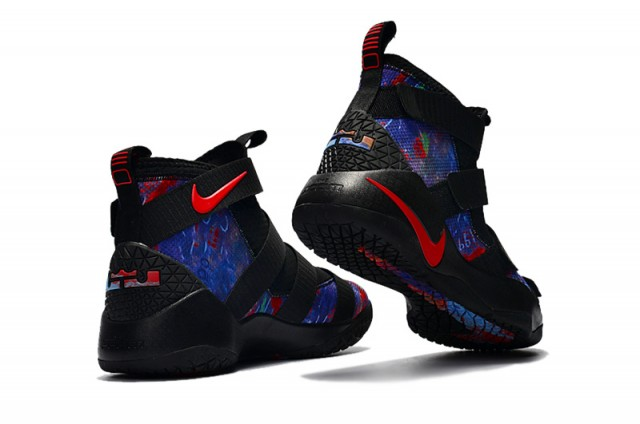 c01f278a554 superior quality nike lebron 11 xi black blue red mens basketball shoes