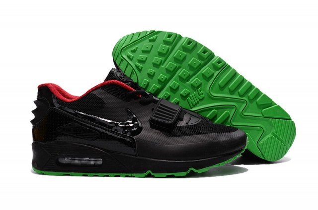 036c47cceb ... Stylish Nike Air Max 90 Black Red Green Men's Sport Shoes