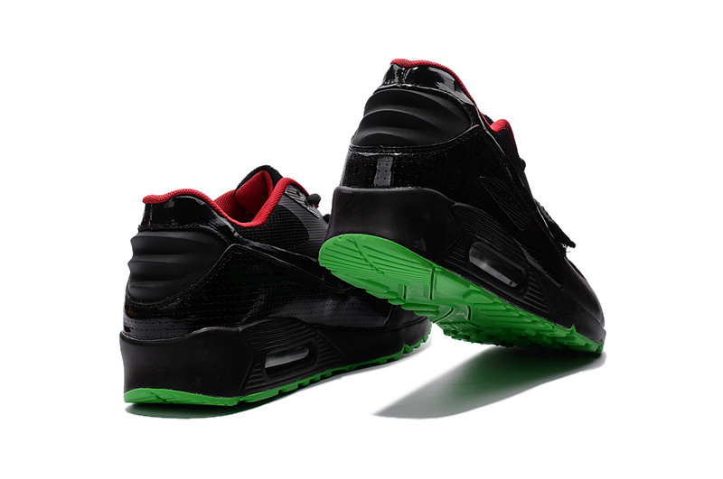 45efce5e62 ... Stylish Nike Air Max 90 Black Red Green Men's Sport Shoes ...