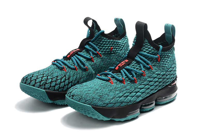 af72037fe03 High Cost Performance Nike LeBron 15 XV Black Green Red Men s Basketball  Shoes ...