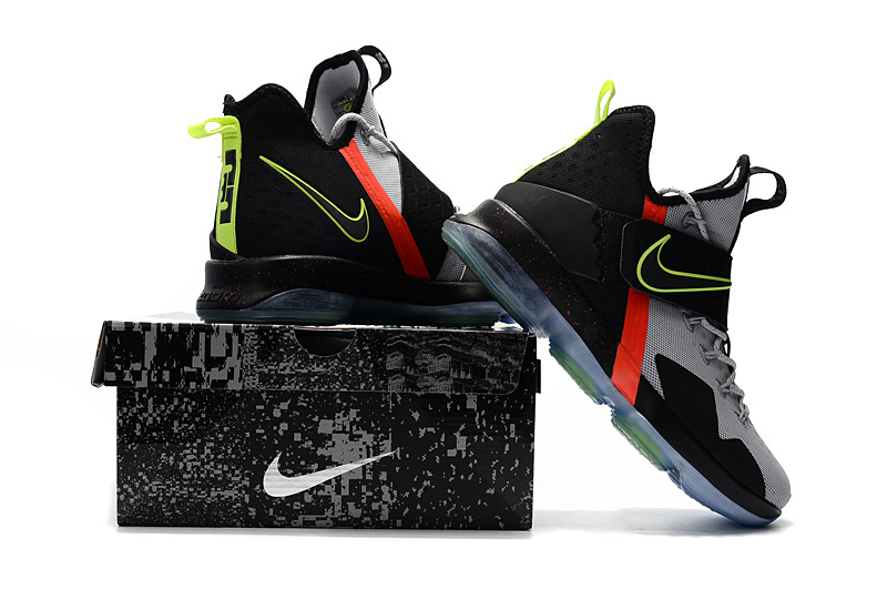 81085e983d4fa ... Of Quality Nike LeBron 14 Black Grey Yellow Red Men s Basketball Shoes  ...