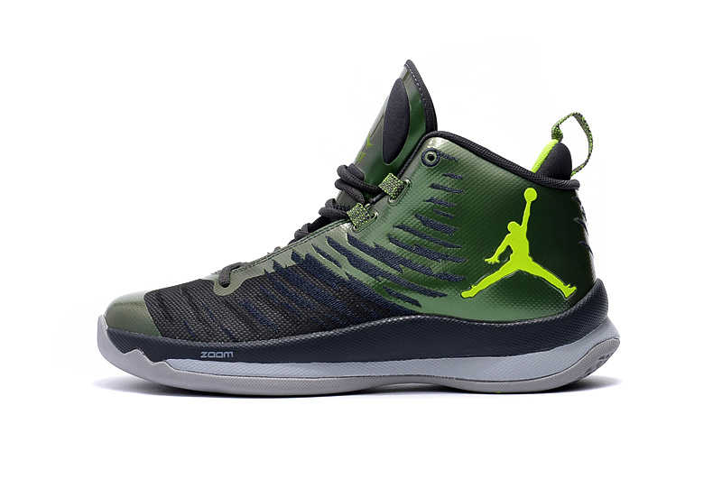 3e27d3fa4142 New Style Nike Air Jordan Super Fly 5 X Green Men s Basketball Shoes ...