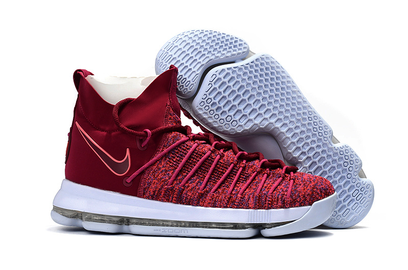 premium selection 9af7b c66d9 ... Most Popular Nike Zoom KD 9 Red White Men s High Basketball Shoes ...