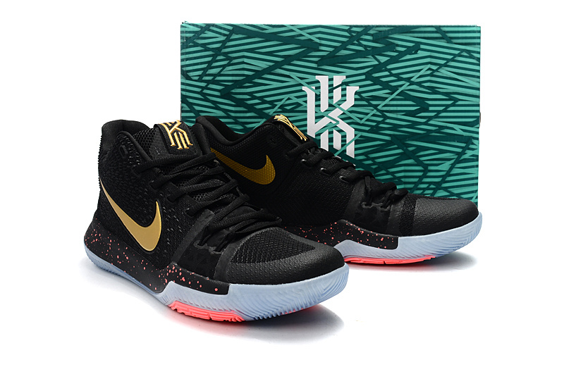 a1d21b9a2f44 ... Deft Design Nike Kyrie 3 EP Black Gold Men s Basketball Shoes ...