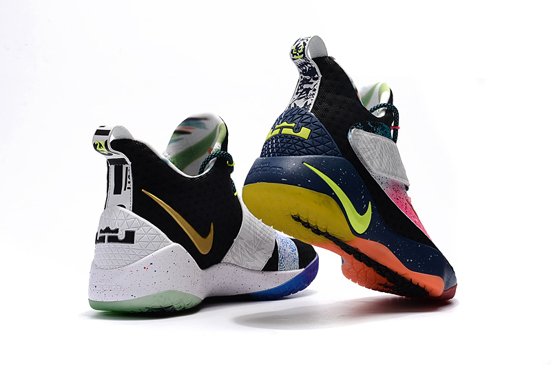 4ae5250691f0 ... Beautiful Design Nike LeBron Soldier 11 Black White Blue Red Colourful Men s  Basketball Shoes ...
