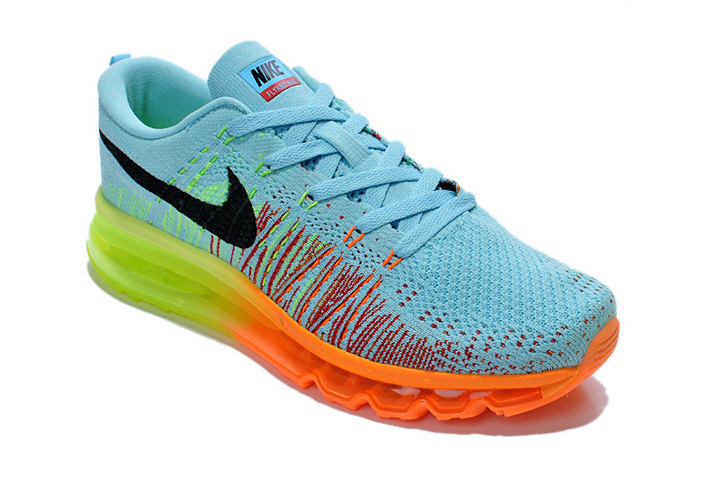 on sale c971c 90265 ... Perfect Nike Air Max 2014 Blue Yellow Orange Men s Running Shoes ...