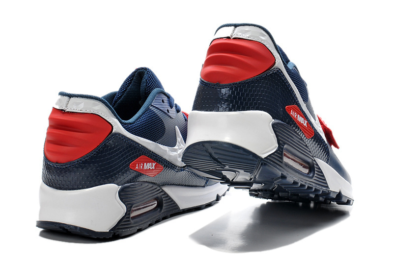 new concept 0cd99 56286 ... Fashion Nike Air Max 90 Blue Red White Unisex Sport Shoes ...