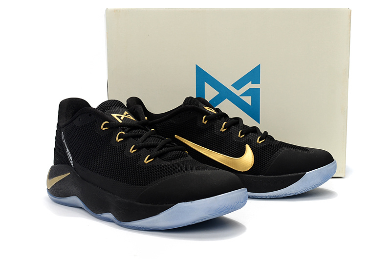 ... high quality nike paul george pg 2 black gold mens basketball shoes 31d378e22