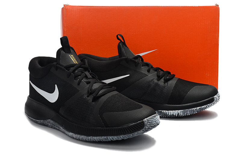 aa8fe434740f ... Wholesale New arrival Nike Zoom Assersion EP Black White Men s  Basketball Shoes ...