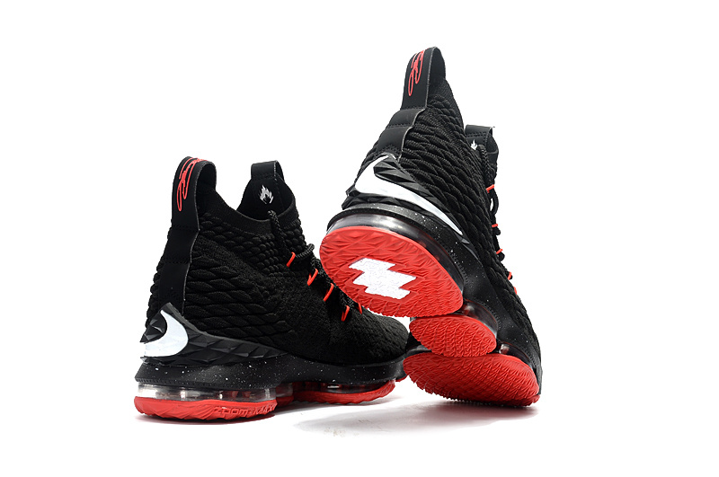 buy online ddc9d f4b91 ... Attractive Nike LeBron 15 XV Black Red Men's Basketball Shoes ...