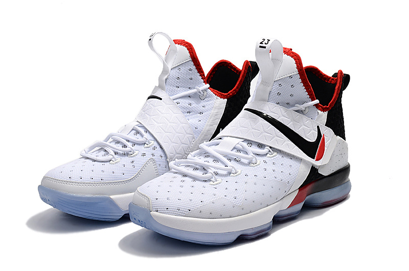 f4fb345b6d2 Perfect Nike LeBron 14 White Black Red Men s Basketball Shoes ...