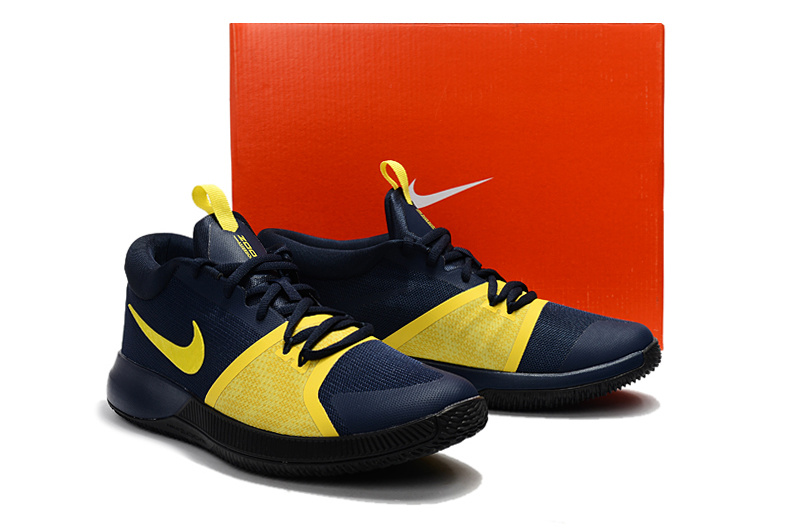 81aab29d0500 ... Serviceable Nike Zoom Assersion EP Blue Yellow Men s Basketball Shoes  ...