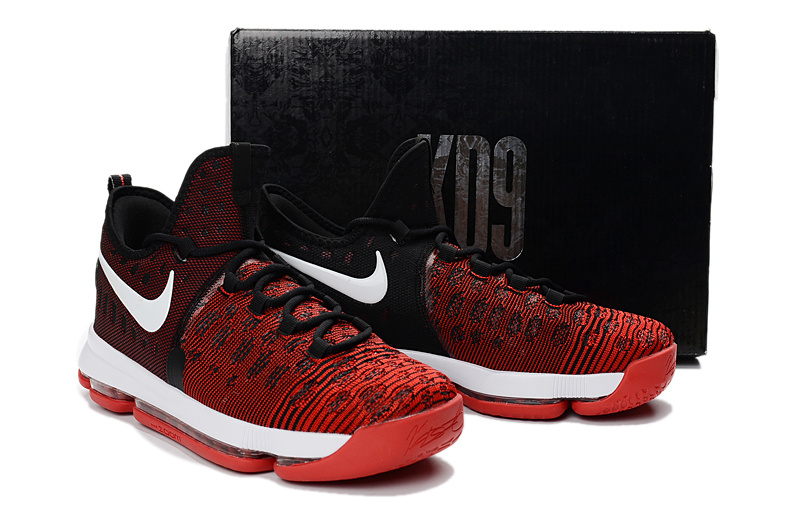 01b96bebbb59 ... shop exceptional nike zoom kd 9 black red white mens basketball shoes  d3ea0 7924b