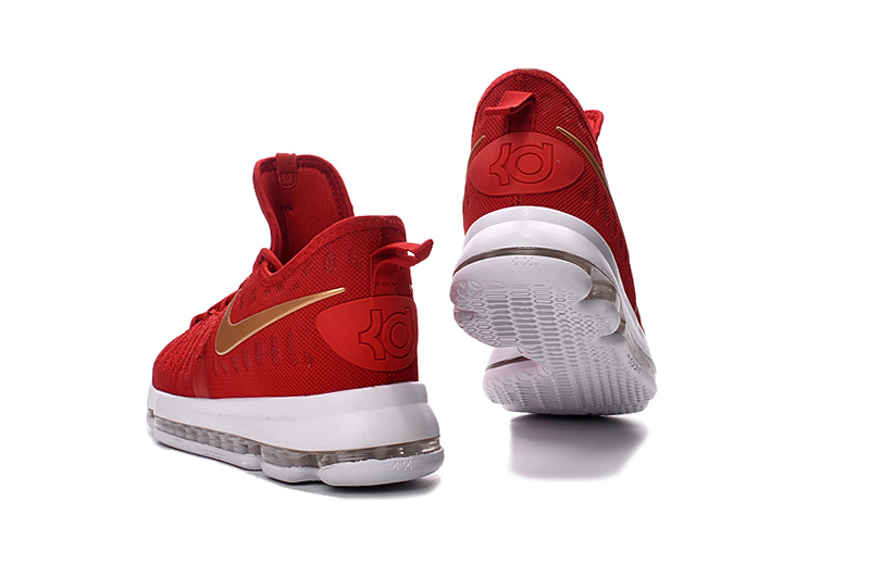 eaea4f379790 Classic Nike Zoom KD 9 Red Gold White Men s Basketball Shoes ...