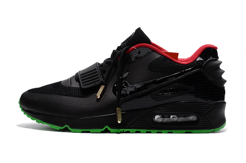 71f738a332 Stylish Nike Air Max 90 Black Red Green Men's Sport Shoes ...