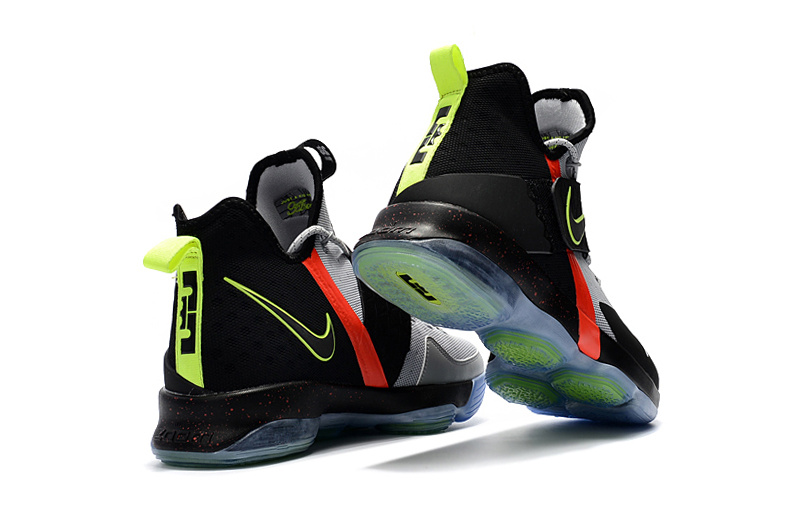 4f5dc3c82ef ... Of Quality Nike LeBron 14 Black Grey Yellow Red Men s Basketball Shoes