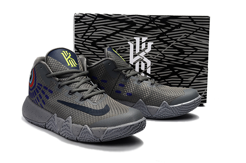 6eeeddcfeb9 ... sale delicate nike kyrie lrving 4 grey black blue mens basketball shoes  59833 89a9b