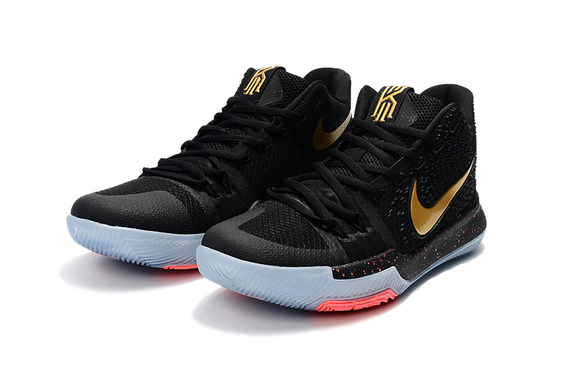 24077fd17fb9 Deft Design Nike Kyrie 3 EP Black Gold Men s Basketball Shoes ...