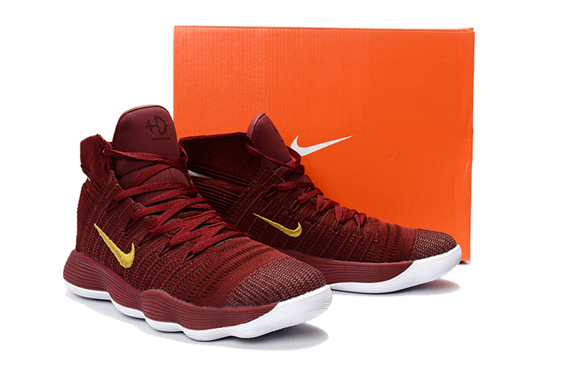 size 40 4e567 a0308 ... of quality nike hyperdunk flyknit 2017 wine red yellow white mens  basketball shoes ...