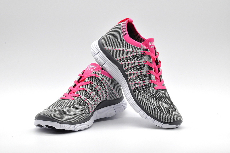 9929434854cb8 ... Serviceable Nike Free Running 5. 0 Flyknit Grey Pink White Women s  Training Shoes