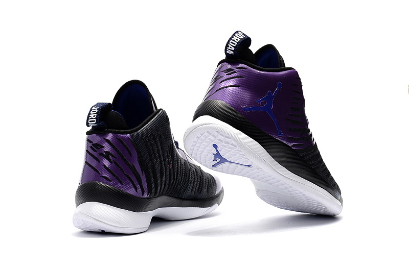 best service ee970 14c19 ... High Cost Performance Nike Air Jordan Super Fly 5 X Black Blue Purple  Men s Basketball Shoes ...