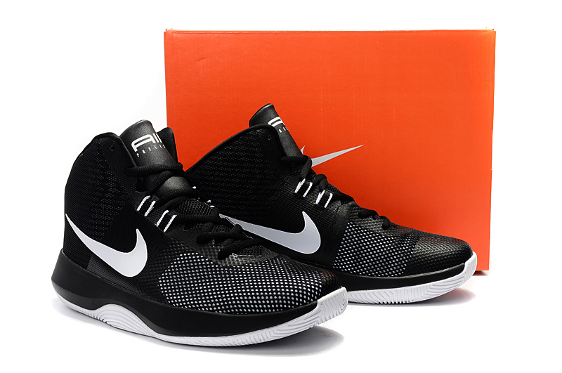 ... Reasonable Price Nike Air Precision Black White Men s Basketball Shoes  ... c03e1114c