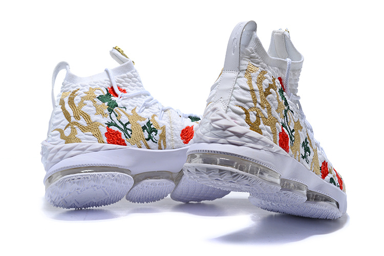 aa1b2ad908ea9 ... Reliable Quality Nike LeBron 15 XV Floral version Flowers Men s  Basketball Shoes ...