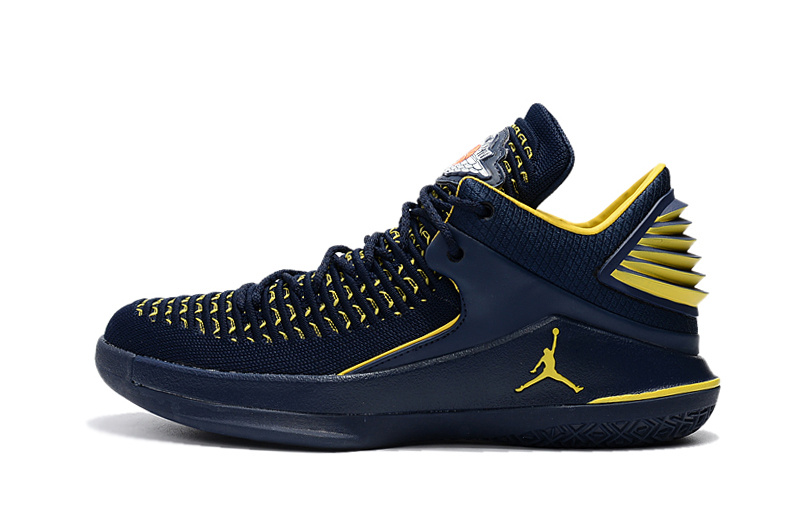 Fashion Nike Air Jordan 32 XXXII Blue Yellow Men's Basketball ...