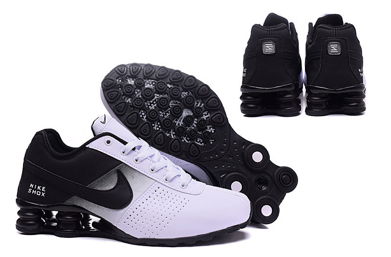 best website e0927 ad0e6 ... Hot Sale Nike Shox White Black Shox NZ Men s Sport Running Shoes