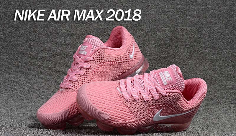 4635aa4331 ... New Pattern Nike Air Max 2018 Pink White Women's Running Shoes ...