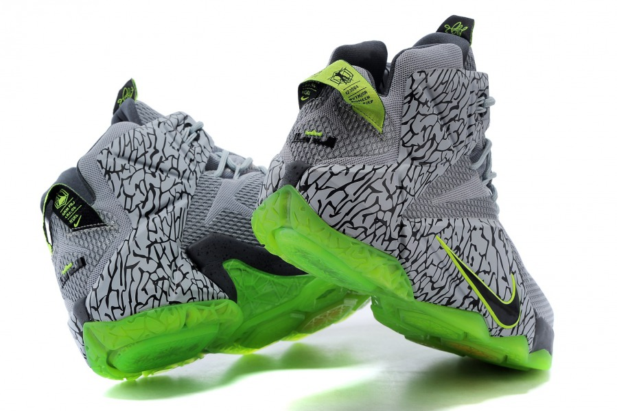 2b8e9d2fcd3c7 ... Superior Nike LeBron XII EP Grey Green 684593 607 Men's Basketball Shoes  ...