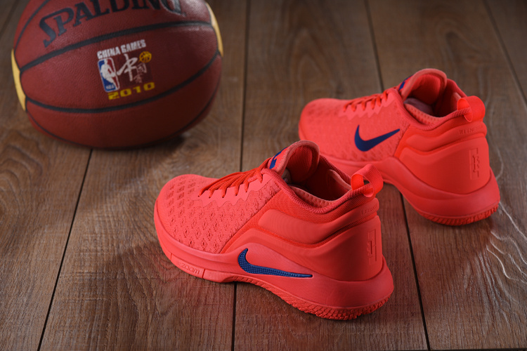 finest selection 539ef b0632 ... Exquisite Nike LeBron Witness 2 Flyknit Red Blue Men s Basketball Shoes  ...