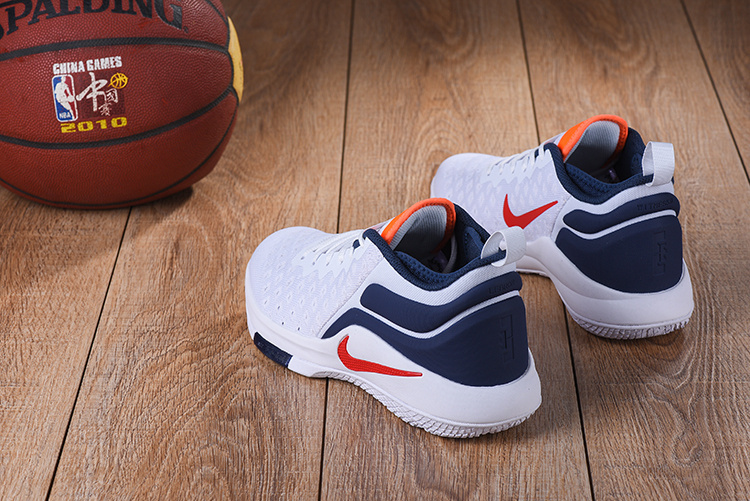 96f54aed0d90 ... Durable Nike LeBron Witness 2 Flyknit White Blue Red Orange Men s  Basketball Shoes ...