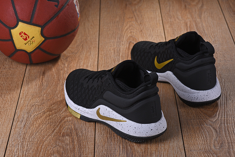 79355342ded38 ... Newest Nike LeBron Witness 2 Flyknit Black Gold Men s Basketball Shoes  ...