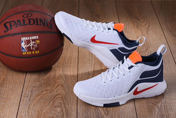 Durable Nike LeBron Witness 2 Flyknit White Blue Red Orange Mens  Basketball Shoes
