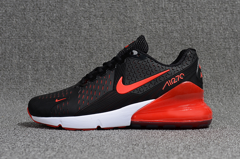 High Quality Nike Air Max 270 Black Red White Men's ...