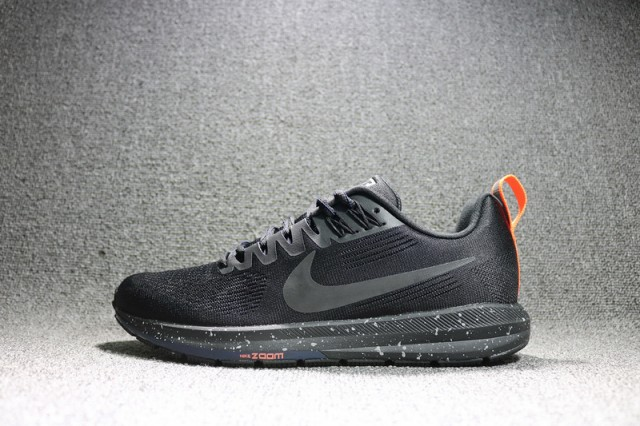 099652550eb Durable Nike Air Zoom Structure 21 Black Grey Orange 907324 001 Unisex  Sport Running Shoes  907324-001
