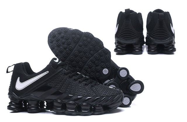 the latest fd884 5ce36 ... Free Shipping Nike Shox TLX Black White Men s Gym Running Shoes