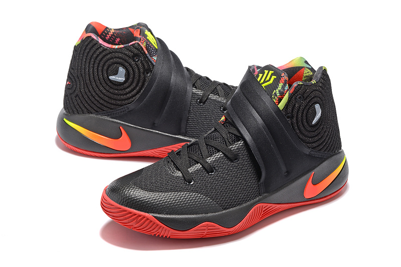 d3dc897df58 ... Impeccable Nike Kyrie 2 Xmas Black Red Unisex Basketball Shoes ...