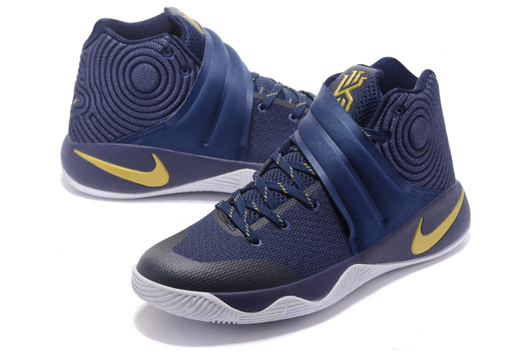 sports shoes a172d f2025 Of Quality Nike Kyrie 2 Xmas Blue Gold Men's Basketball Shoes #DC003872