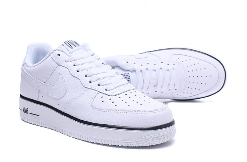 new style 24c03 2d930 ... New Style Nike Air Force 1 White Black 488298 160 Men s Casual Shoes ...