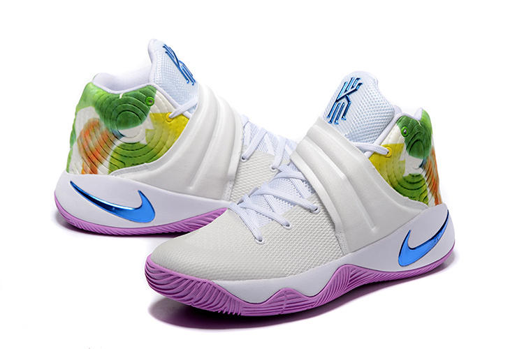 9f49054a3b21 ... High-end Product Nike Kyrie 2 Xmas Blue Purple White Green Men s Basketball  Shoes ...