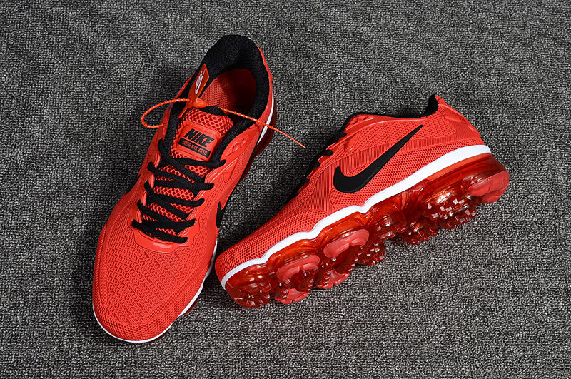 ccb7a17427 ... Good Production Line Nike Air Vapormax 2018 Red Black Men's Running  Shoes ...
