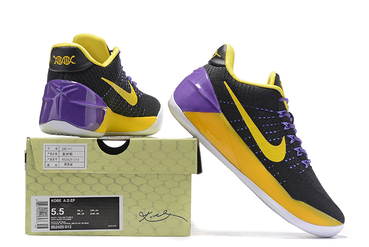 online store 6aed6 4694b ... New Style Nike Kobe AD EP Black Purple Yellow 852425 013 Women s Basketball  Shoes