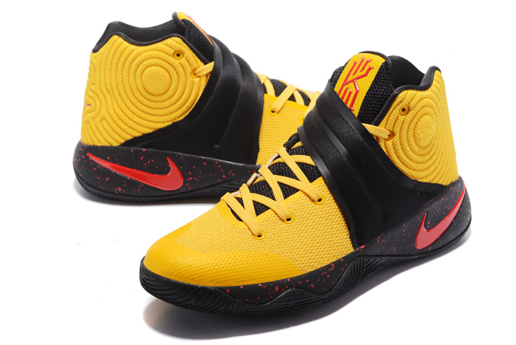 aa027e547c8a ... Top Quality Nike Kyrie 2 Xmas Yellow Black Red Men s Basketball Shoes  ...