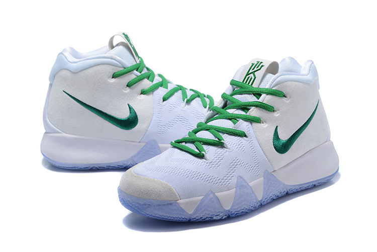 d280685dd87 ... Skillful Manufacture Nike Kyrie 4 EP White Green Men s Basketball Shoes  ...