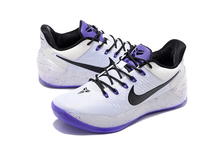 51d66eb4b65 ... Exquisite Nike Kobe AD EP White Black Purple 852427 018 Women s  Basketball Shoes ...